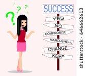 cute cartoon of business... | Shutterstock .eps vector #646662613