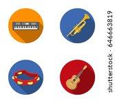 electro organ  trumpet ... | Shutterstock .eps vector #646663819