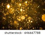abstract blur gold sparkle... | Shutterstock . vector #646667788