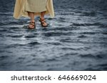 jesus walking on the waters | Shutterstock . vector #646669024