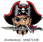 mascot pirate head  proud and...   Shutterstock .eps vector #646671148