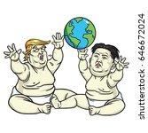 baby trump and kim jong un... | Shutterstock .eps vector #646672024