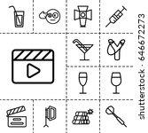 shot icon. set of 13 outline... | Shutterstock .eps vector #646672273