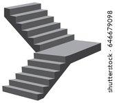 industrial flight of stairs... | Shutterstock .eps vector #646679098