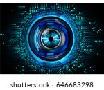 future technology  blue eye... | Shutterstock .eps vector #646683298