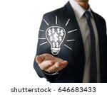 hands of business person... | Shutterstock . vector #646683433