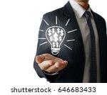 hands of business person... | Shutterstock . vector #646683433