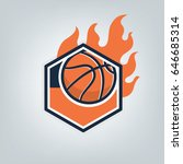 basketball sport logo template...   Shutterstock .eps vector #646685314