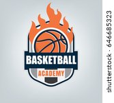 basketball sport logo template... | Shutterstock .eps vector #646685323