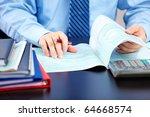 businessman working with...   Shutterstock . vector #64668574