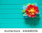 flowers made of paper. mint... | Shutterstock . vector #646688206