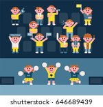 cute ratio cheering people... | Shutterstock .eps vector #646689439