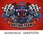 skull wearing motocross helmet... | Shutterstock .eps vector #646691554