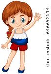 girl wearing shirt with russia... | Shutterstock .eps vector #646692514