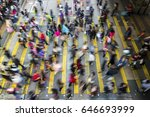busy pedestrian crossing at... | Shutterstock . vector #646693999