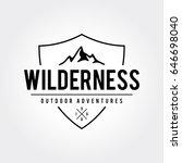 outdoor wilderness  mountain... | Shutterstock .eps vector #646698040