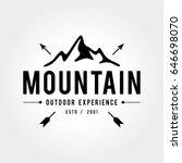 outdoor wilderness  mountain... | Shutterstock .eps vector #646698070