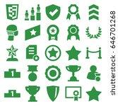 award icons set. set of 25... | Shutterstock .eps vector #646701268