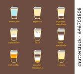 coffee to go drinks recipe... | Shutterstock .eps vector #646701808