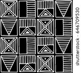 seamless pattern. black and... | Shutterstock . vector #646709530