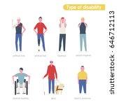 type of disability men... | Shutterstock .eps vector #646712113