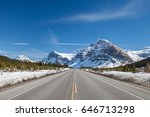 canadian freeway 1 extending to ... | Shutterstock . vector #646713298