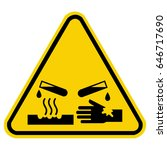 corrosive warning sign ... | Shutterstock .eps vector #646717690
