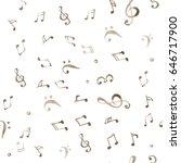 watercolor splash music pattern  | Shutterstock . vector #646717900