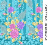 textile floral background | Shutterstock . vector #646721350