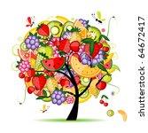 energy fruit tree for your... | Shutterstock .eps vector #64672417