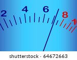 scale with an pointer on a blue ... | Shutterstock .eps vector #64672663