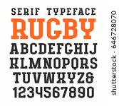 serif font in sport style.... | Shutterstock .eps vector #646728070