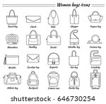 set of 20 line icons. different ...   Shutterstock .eps vector #646730254