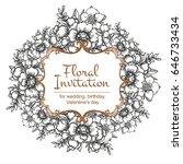 romantic invitation. wedding ... | Shutterstock . vector #646733434