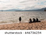 teens enjoying afternoon at... | Shutterstock . vector #646736254