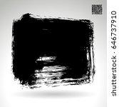 black brush stroke. grunge... | Shutterstock .eps vector #646737910