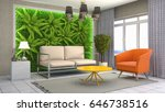 interior living room. 3d... | Shutterstock . vector #646738516