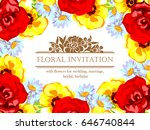 romantic invitation. wedding ... | Shutterstock .eps vector #646740844
