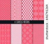 set of eight different... | Shutterstock .eps vector #646741264