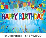 happy birthday.   Shutterstock .eps vector #646742920