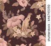 vector seamless beige colored... | Shutterstock .eps vector #646745350