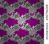 floral ornament brocade textile ... | Shutterstock . vector #646746268