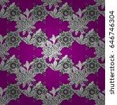 magenta vector ethnic elements... | Shutterstock .eps vector #646746304