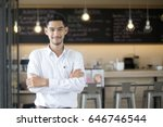 young asian man with small... | Shutterstock . vector #646746544