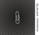 paper clip icon.   Shutterstock .eps vector #646746718