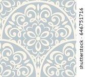 seamless damask pattern. vector | Shutterstock .eps vector #646751716