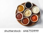 set of sauces top view | Shutterstock . vector #646753999