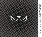 hipster glasses icon. | Shutterstock .eps vector #646754680