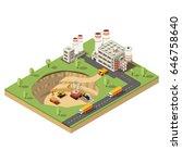 isometric mining industry... | Shutterstock .eps vector #646758640