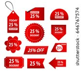 red discount stickers | Shutterstock .eps vector #646767574